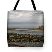Cape Porpoise Maine - Fog On The Horizon Tote Bag