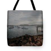 Cape Porpoise Maine - Fog Rolls In Tote Bag