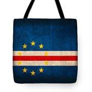 Cape Verde Flag Vintage Distressed Finish Tote Bag