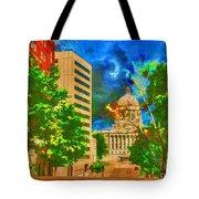 Capital - Jefferson City Missouri - Painting Tote Bag