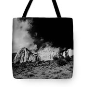 Capital Reef National Park In Black And White  Tote Bag