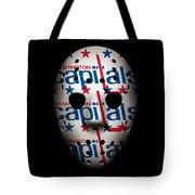 Capitals Goalie Mask Tote Bag