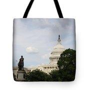 Capitol And Statue Washington Dc Tote Bag