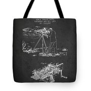 Capps Machine Gun Patent Drawing From 1899 - Dark Tote Bag