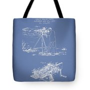 Capps Machine Gun Patent Drawing From 1899 - Light Blue Tote Bag