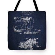 Capps Machine Gun Patent Drawing From 1899 - Navy Blue Tote Bag