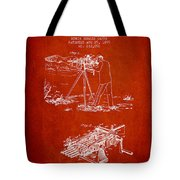 Capps Machine Gun Patent Drawing From 1899 - Red Tote Bag