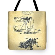 Capps Machine Gun Patent Drawing From 1899 - Vintage Tote Bag