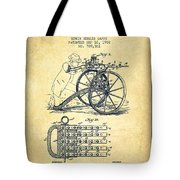 Capps Machine Gun Patent Drawing From 1902 - Vintage Tote Bag