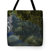 Capricious Green Sunspots Shadows And Reflections Tote Bag