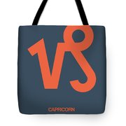 Capricorn Zodiac Sign Orange Tote Bag