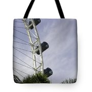 Capsules And Structure Of The Singapore Flyer Along With The Spokes Tote Bag