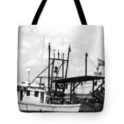 Capt. Jamie - Shrimp Boat - Bw 02 Tote Bag