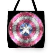Captain America Shield Digital Painting Tote Bag