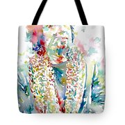 Captain Beefheart Watercolor Portrait.2 Tote Bag by Fabrizio Cassetta