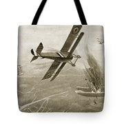 Captain Hawkers Aerial Battle Tote Bag