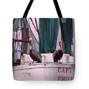Captain Phillips And First Mate Tote Bag