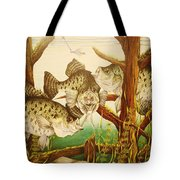 Captivating Crappies Tote Bag by Bruce Bley