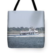 Captree's Captain Gregory Heading Out To Sea Tote Bag
