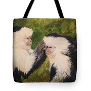 Capuchin Monkeys Charlotte And Samantha Half Proceeds Go To Jungle Friends Primate Sanctuary Tote Bag