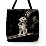 Car And Dog Tote Bag