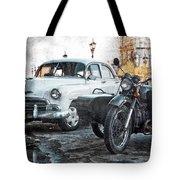 Car And Sidecar Tote Bag