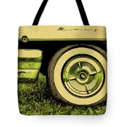 Car And Tire Tote Bag