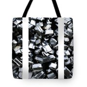 Car Bumpers Triptych Tote Bag