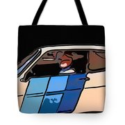 Car Driving By Tote Bag