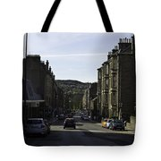 Car In A Queue Waiting For A Signal In Edinburgh Tote Bag