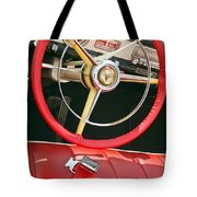 Car Interior Red Seats And Steering Wheel Tote Bag