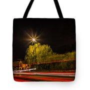 Car Light Trails Tote Bag