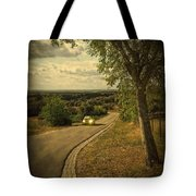 Car On Road Tote Bag by Carlos Caetano