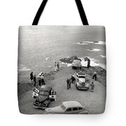 Car Over Edge On Highway One  Big Sur  California    March 27 1947 Tote Bag