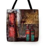 Car - Station - Gas Pumps Tote Bag