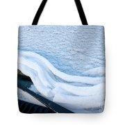 Car Windshield Freshly Fallen Snow Melting Tote Bag