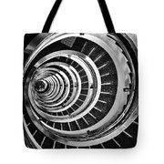 Time Tunnel Spiral Staircase In Sao Paulo Brazil Tote Bag