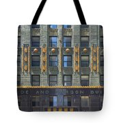 Carbide And Carbon Building Tote Bag by Adam Romanowicz
