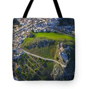 Carcabuey Castle From The Air Tote Bag