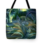 Card Design For Insects Of Enchanted Stream Tote Bag
