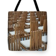Cardboard Cathedral Chairs Tote Bag