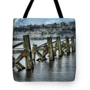 Cardiff Bay Old Jetty Supports Tote Bag