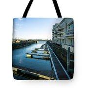 Cardiff Bay Pontoons Tote Bag