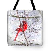 Cardinal Christmas-2014 Tote Bag