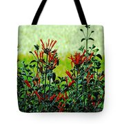 Cardinal Flowers Tote Bag