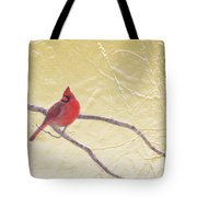 Cardinal In Gold Leaf Tote Bag
