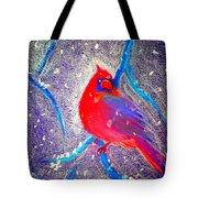 Cardinal In Snow Tote Bag