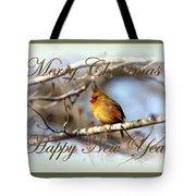 Cardinal - Lady At Christmas Tote Bag