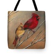 Cardinal Mates Tote Bag