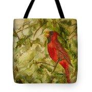 Cardinal Singing Tote Bag
